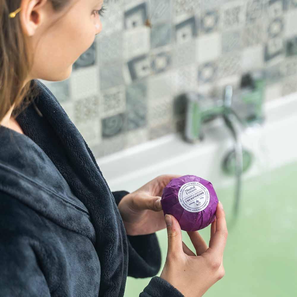 Lavender & Avocado Oil CBD Bath Bomb