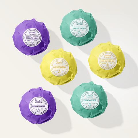 Six pack of CBD Bath Bombs